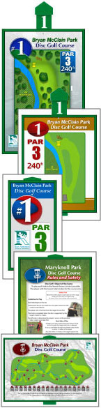 Disc Golf Course signs by John Houck