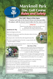 Rules and Safety Sign with Scenic Photo style